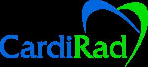 Cardiradin logo, jossa lukee sinisellä cardi ja vihreällä rad